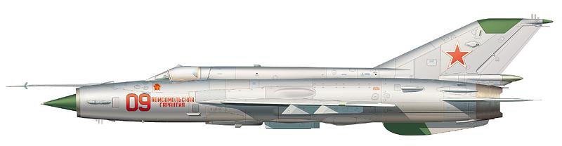 Например, за дизайн МиГ-21СМ